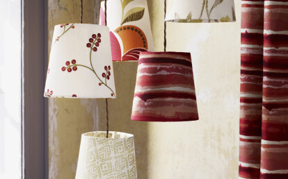 Curtain and Lamp Mural