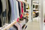 White walk-in closet with modular storage