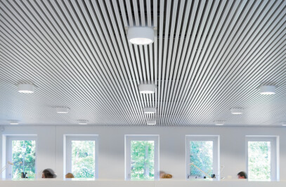 Multi Panel - Linear Open Metal Ceilings Interior