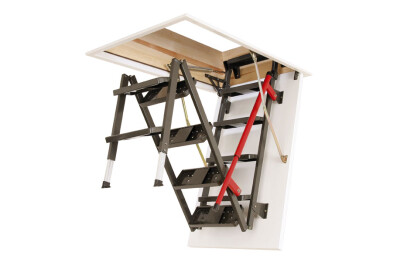 LML metal loft ladder + DRL flat roof access door
