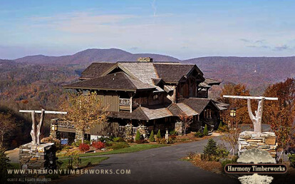 Timber Frame Mountain Home