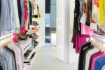 All white walk-in closet