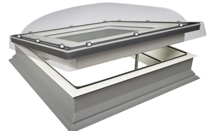Flat roof window type with dome (type C)