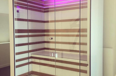 Design infrared sauna in solid surface