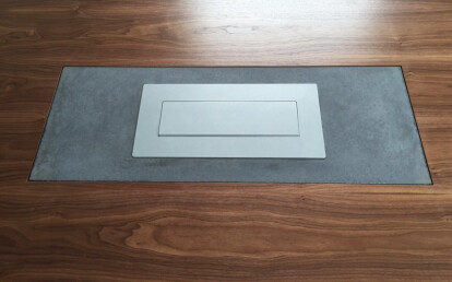the power source in the center of the table