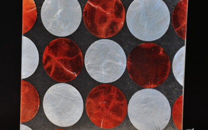 Shell Silver Red