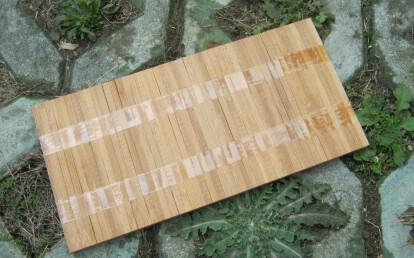 bambus hoogkant