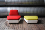 SPOCK chair and footstool