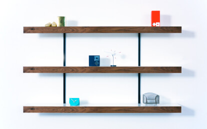 walnut shelving systems