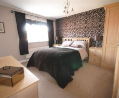 Large decorated bedroom