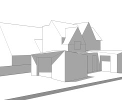 Massing Model of Proposed Alterations