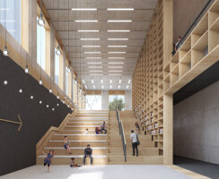 Longhua Art Museum and Library Stairs from Library