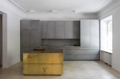 Gold & gray apartment Stockholm