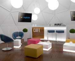 Geodesic Dome as a Cafe