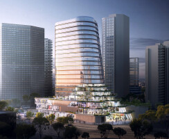 Gemdale Changshou Road, Shanghai, China, designed by Andrew Bromberg at Aedas