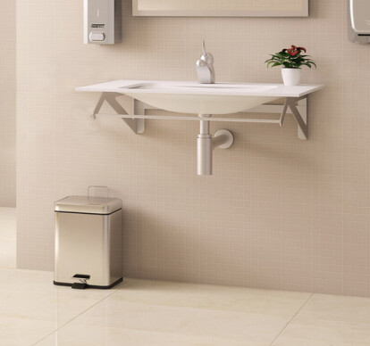 Bathroom trash cans