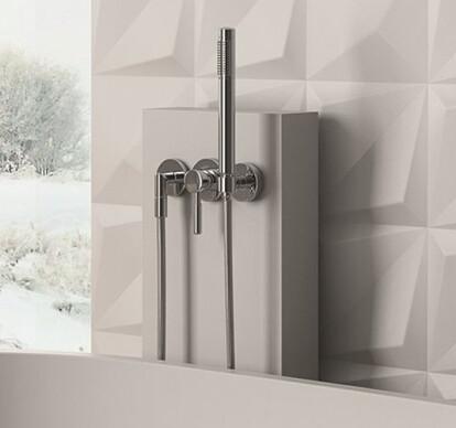 Bathtub double-handle mixer taps