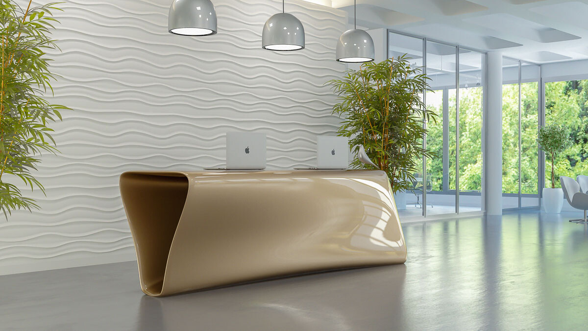 Tregola Reception Desk by Nüvist