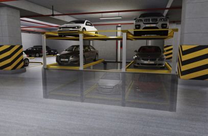3 level semi-automatic parking system