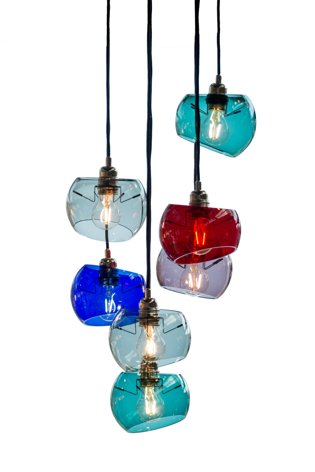 Glass Moons 7 suspension lamp