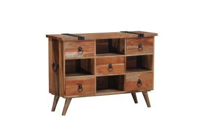 Mango and Acasia Wood Sideboard with Drawers