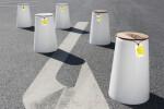 Statthocker - Recycled mushroom lamps & HI-MACS®