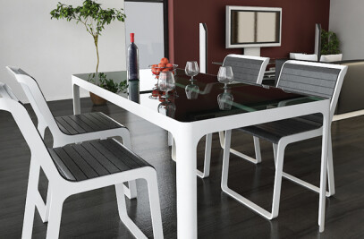6 Seater Dining Table - From the Smoked Range