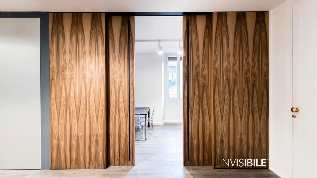 Linvisibile Marea Altopiano designed by Giulio Cappellini, veneer wood finish