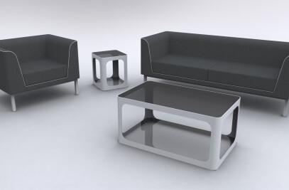 Linear Sofa & Arm Chair