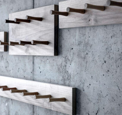 Wall-mounted coat racks