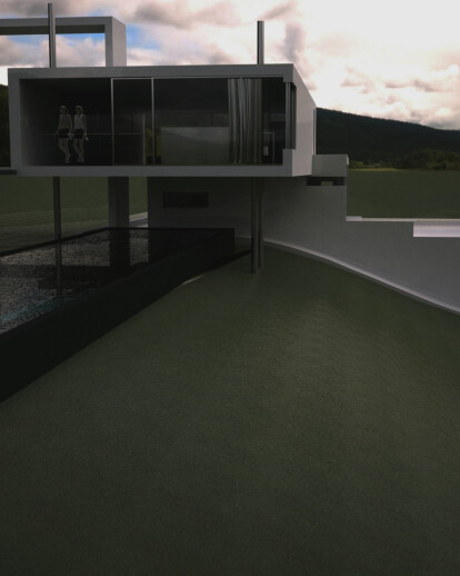 House A - House for a slope (extension): somewhere on a slope gianluca milesi architecture