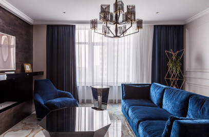 Art Deco with blue furniture