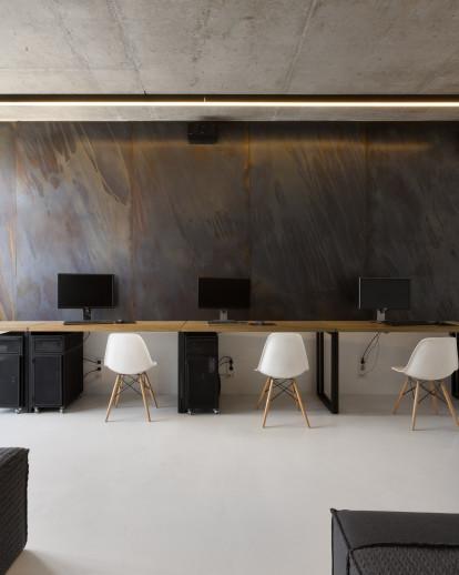 Inside Yakusha Design eco-minimalist office