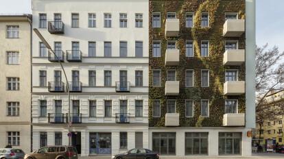 Urban apartment building with a green vertical garden | Sarah