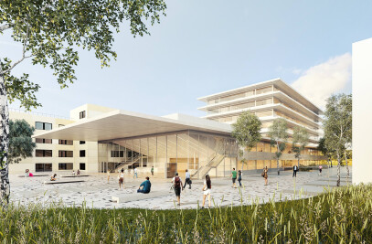 THE NEW BUILDING FOR THE FACULTY OF BUSINESS ECONOMICS OF THE UNIVERSITY OF HASSELT