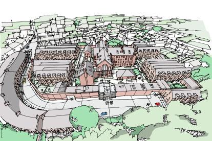 Dorchester Prison Sketch