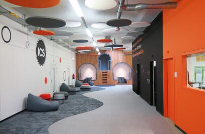 Entrance Hall of the Inter-Community School Zurich