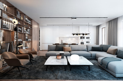 Neat interior for a young family