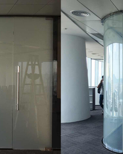 Smart switchable glass for office design, home design, interior design, exhibition design