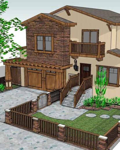 2500 SFT Craftsman Style Residence, Saratoga CA