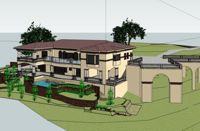 4500 SFT Mediterranean Style Hillside Residence, Saratoga CA