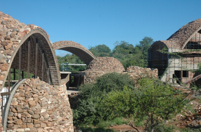 Stabilized earth visitors' center, Mapungubwe National Park
