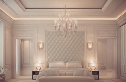 Bedroom Design in Dramatic Contrast