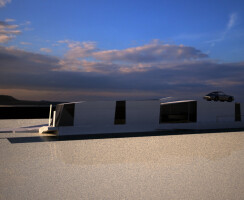 House C - House for a Porsche 02: somewhere in the desert gianluca milesi architecture