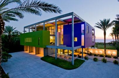 Colorful Contemporary Beach House