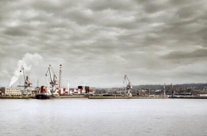 Docks in Aviles Port