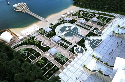 Landscape Of Khazar Hyper Center