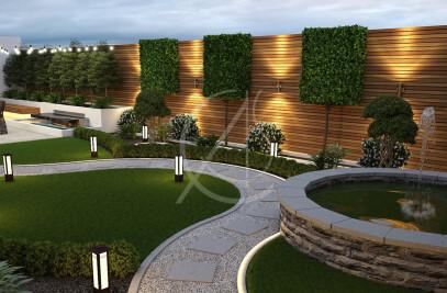 Curved Landscape Garden Design