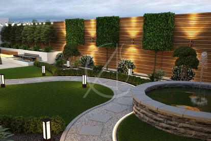 Curved Landscape Garden Design Comelite Architecture Structure And Interior Design Archello