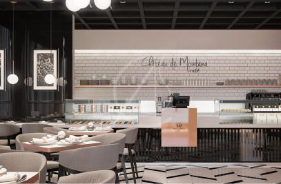 Montana French Cafe Interior Design
